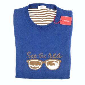Altea Knitwear, Tröja, stl S, See the Sea, Blå