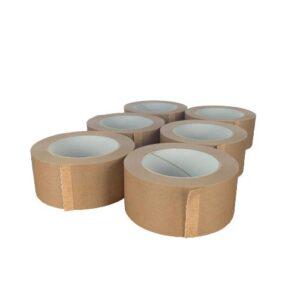 Papperstejp 6st Ecopack 15 Packtejp Brun Papper Tejp 50mm x 50m