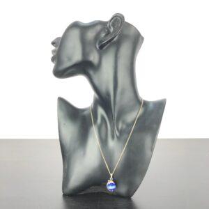 Silver Halsband med pärla delfin ca 7g