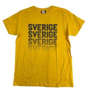 Sverige, T-shirt, stl L, Gul